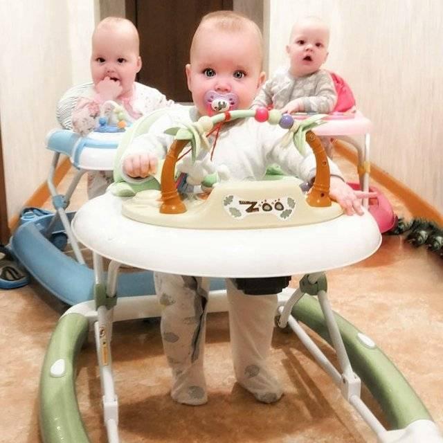 Ходунки для детей: с какого возраста, польза или вред