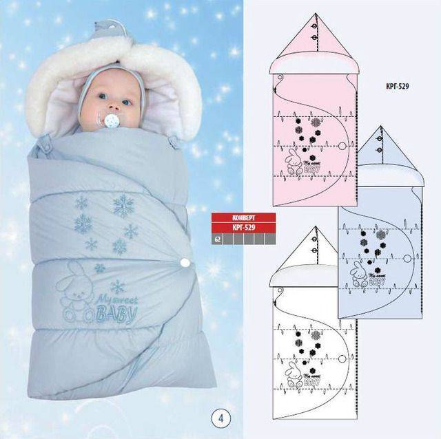 Спальный мешок для новорожденных: шьем своими руками, выбираем готовый конверт