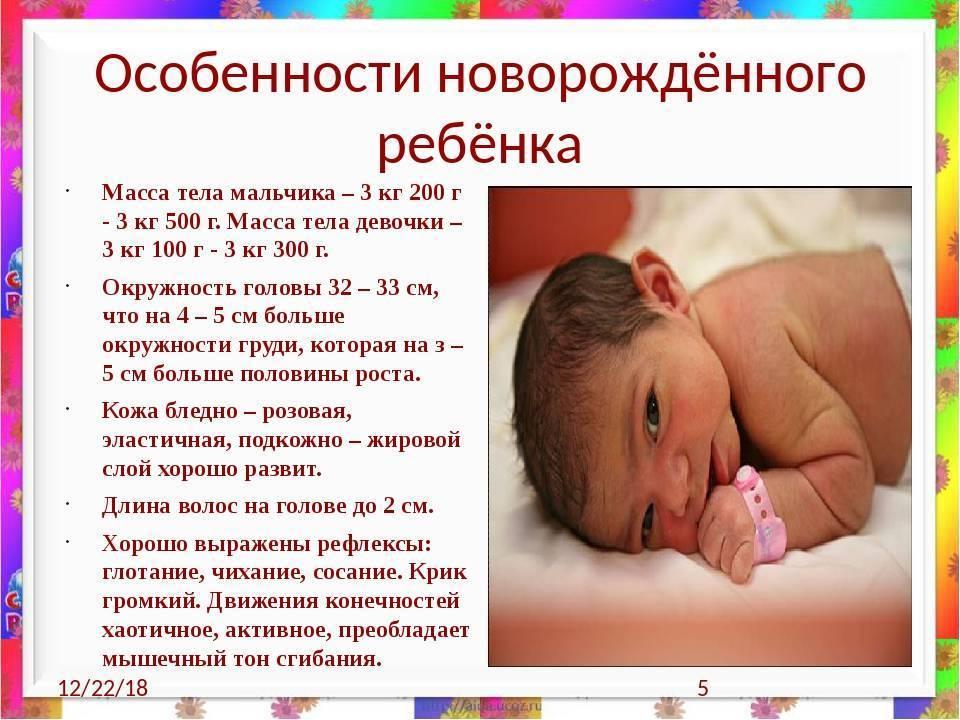 Длительность сна новорожденного по месяцам