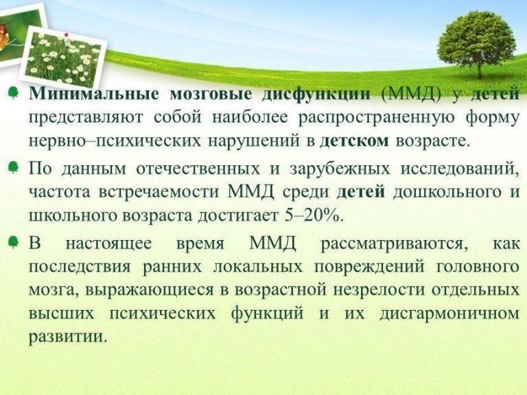 Автореферат и диссертация по медицине (14.01.11) на тему:минимальная мозговая дисфункция