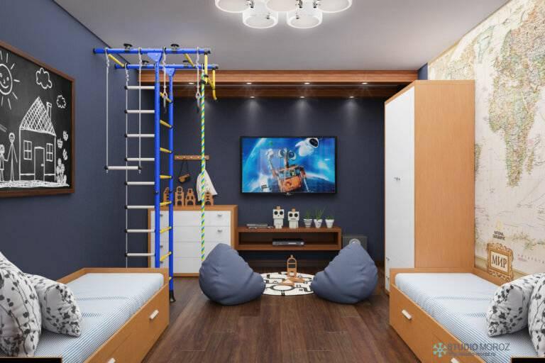 Детская 2021: идеи оформления стен, дизайнерские решения организации пространства (фото)