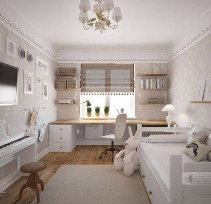 Дизайн детской комнаты 12 кв м: планировка для двоих, интерьер для школьника  - 31 фото
