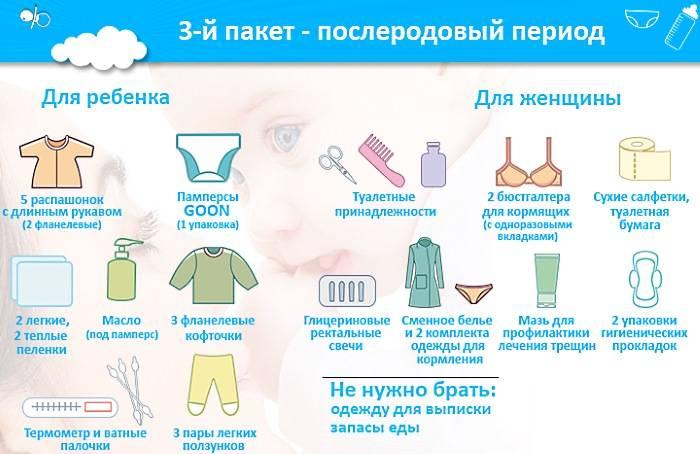 Список вещей в роддом: что нужно взять с собой для мамы и малыша