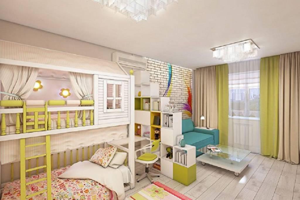 Дизайн детской спальни, совмещенной со взрослой в одной комнате или однокомнатной квартире с фото   детская   vpolozhenii.com