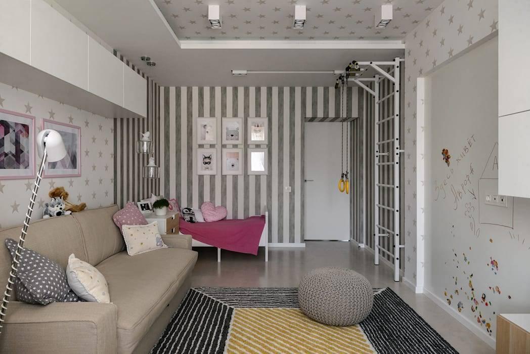 Дизайн гостиной и детской в одной комнате - зонирование интерьера