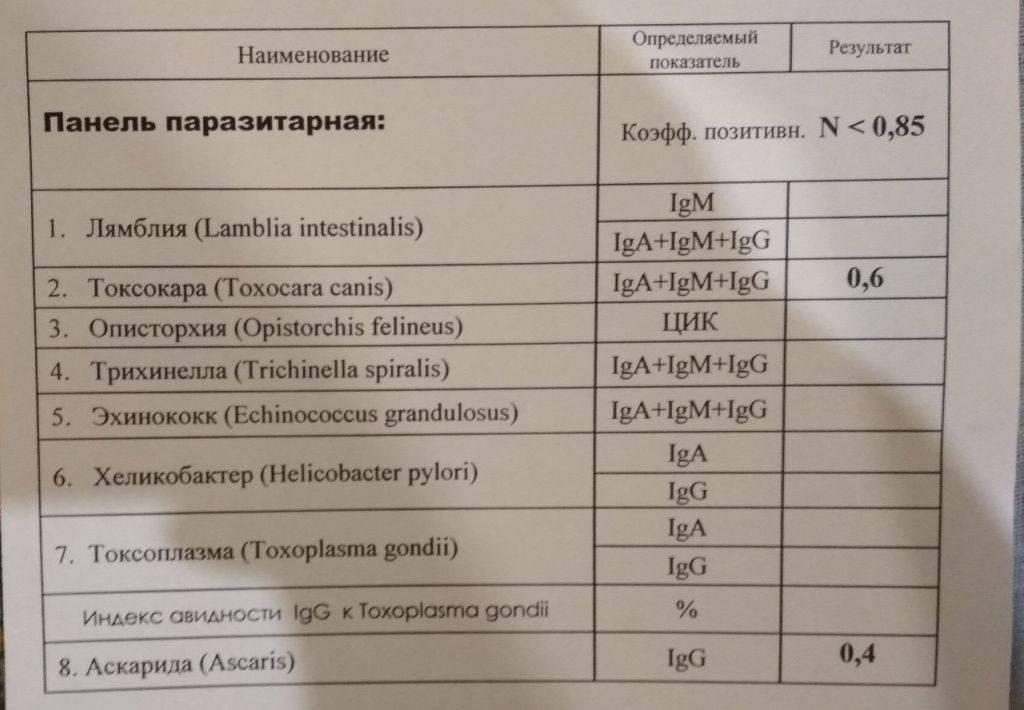 Анализ на лямблии