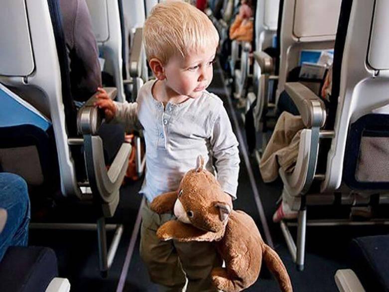 Перелет на самолете, перелет с ребенком