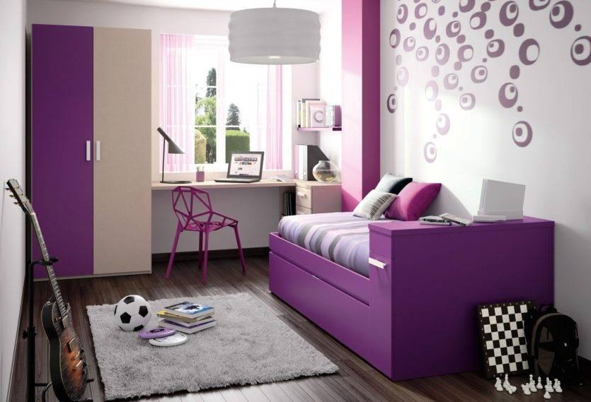 Сиреневая и фиолетовая детская комната: особенности и советы по оформлению