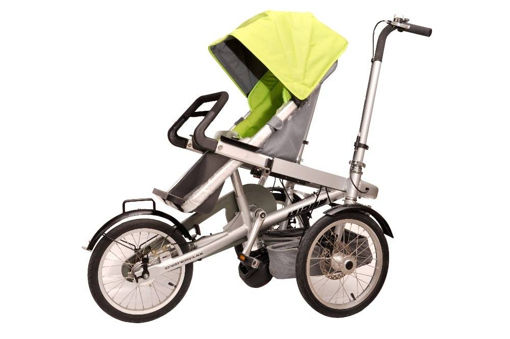 Велосипед коляска: для ребенка — детская модель, для мамы — взрослая (фото)