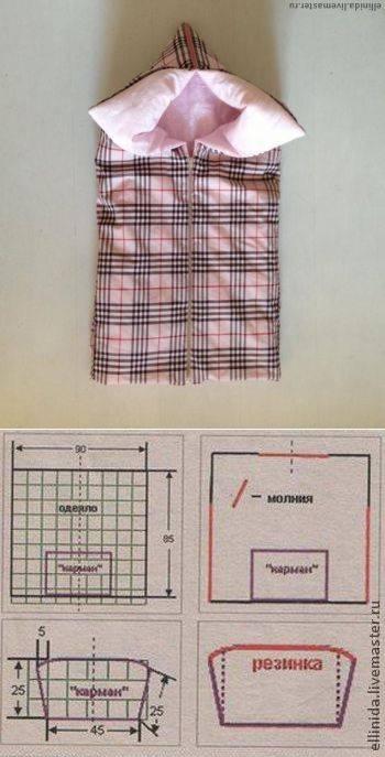 Одеяло трансформер для новорожденного: выкройка и мастер класс своими руками