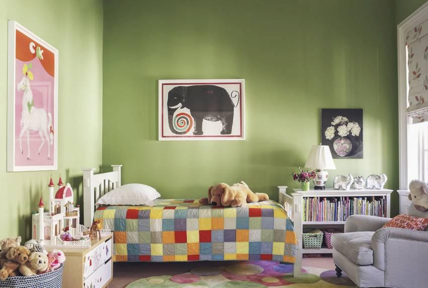 Покраска стен в детской: фото вариантов дизайна интерьера, трафареты, идеи для комнат мальчиков и девочек, а также в группе в саду