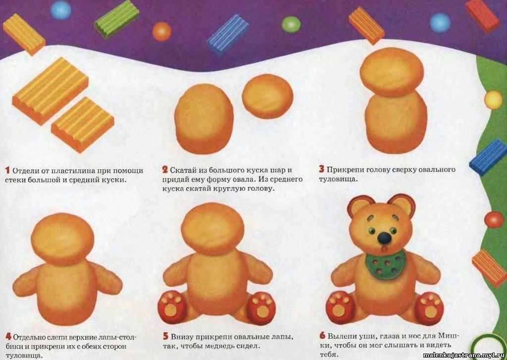 Поделки из пластилина для детей: топ пошаговых идей с фото