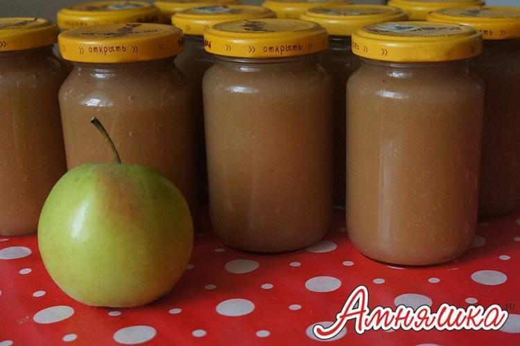Яблочное пюре для грудничка из свежих яблок своими руками: как приготовить (рецепт)
