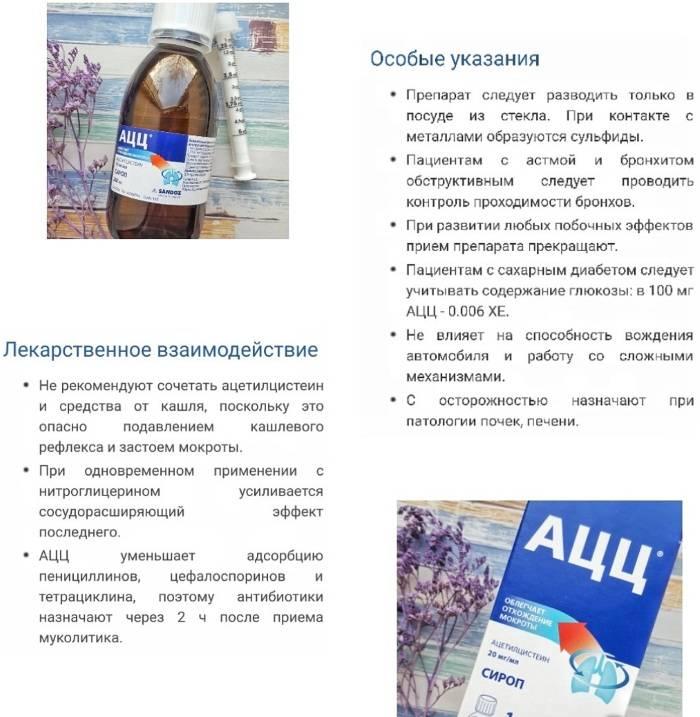 Ацц - инструкция по применению, описание, отзывы пациентов и врачей, аналоги