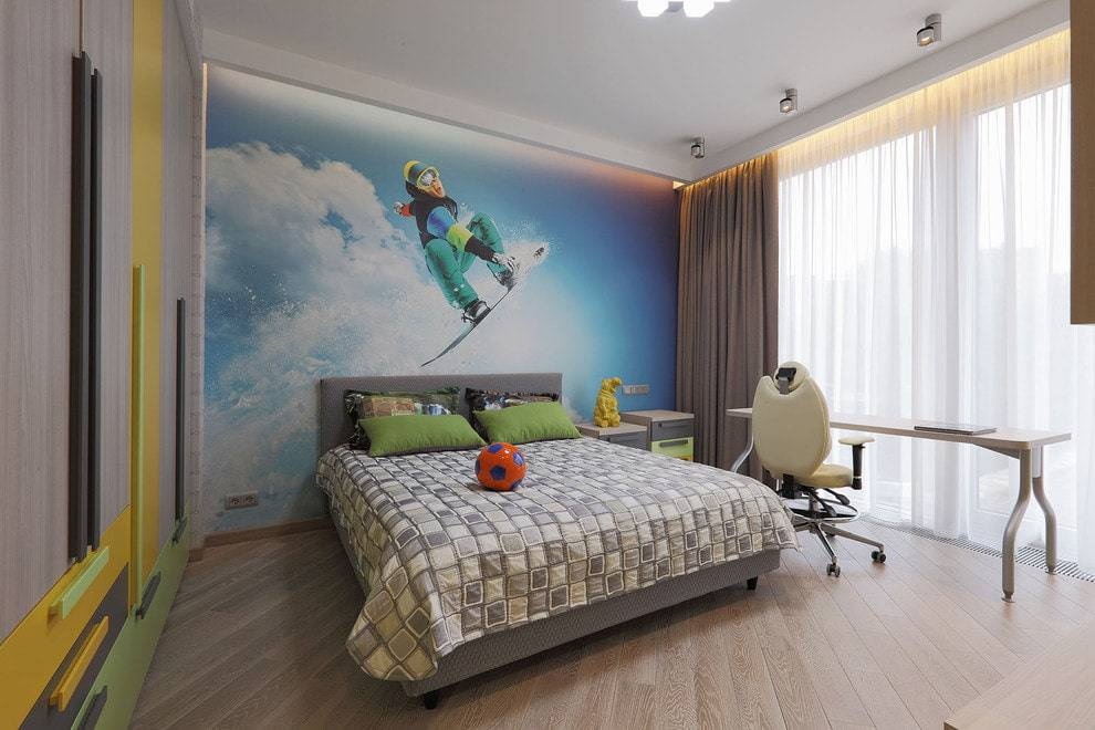 Обои в детскую комнату для мальчиков: виды, цвет, дизайн, фото, комбинирование