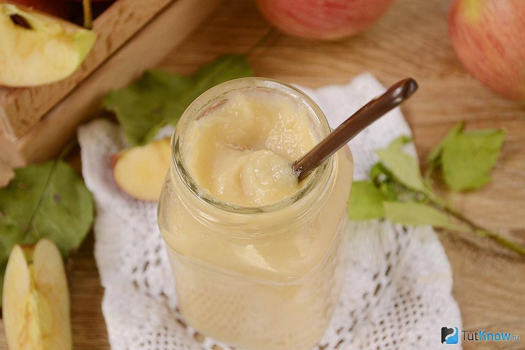 Яблочное пюре для грудничка: полезный продукт готовим самостоятельно