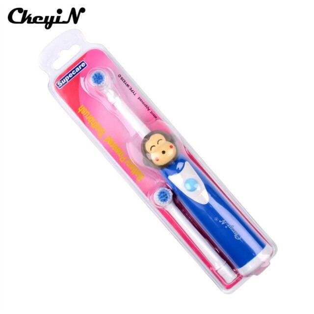 Электрические зубные щетки для детей, выбор лучшей детской электрощетки на батарейках