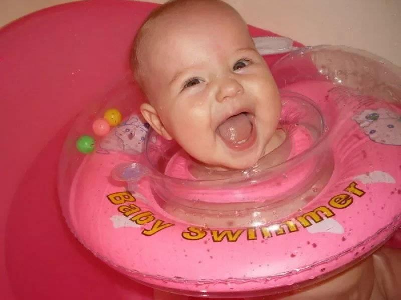 С какого месяца можно круг на шею для купания новорождённых