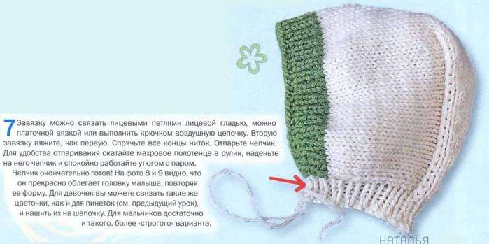 Шапочка для новорожденного спицами: схемы вязания с описанием