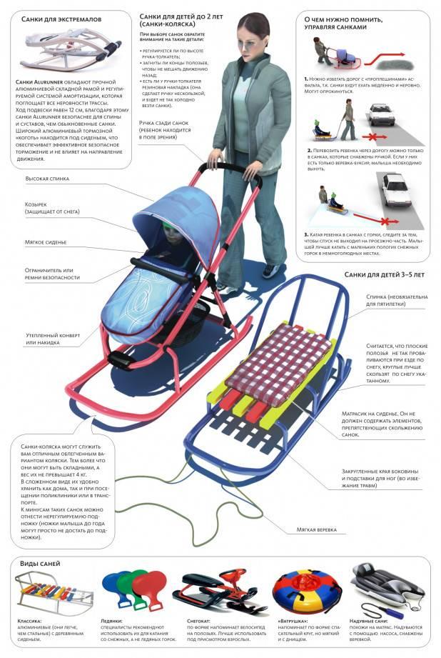 Детские санки-коляски: лучшие модели 2021 года