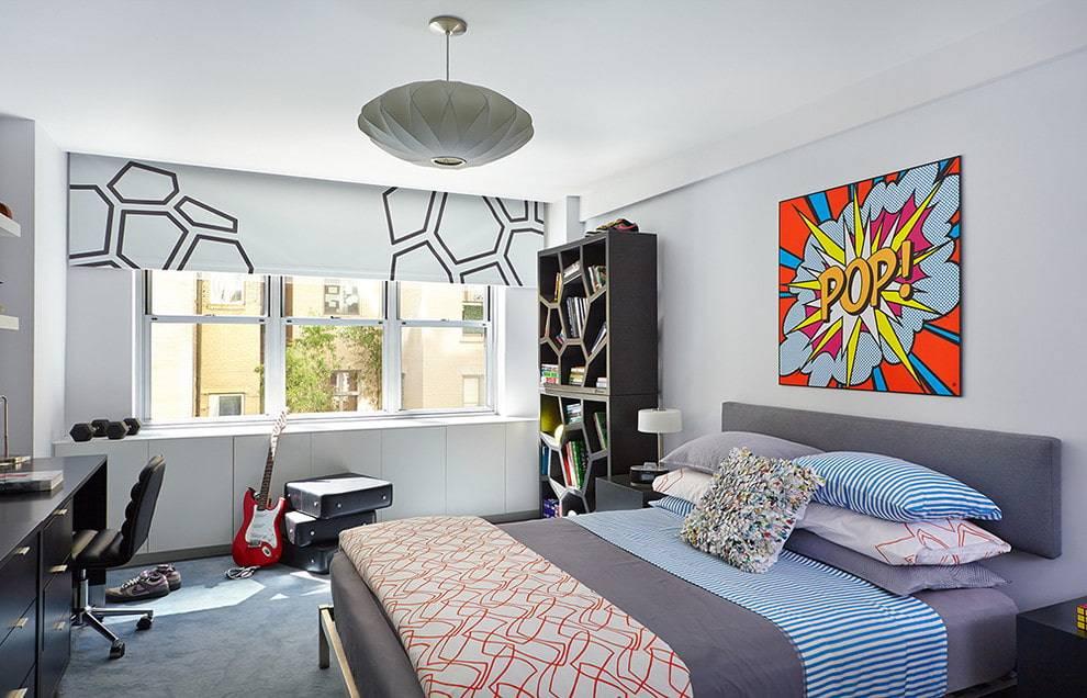 Комната для мальчика-подростка [2021] - 83 фото (дизайн + мебель)