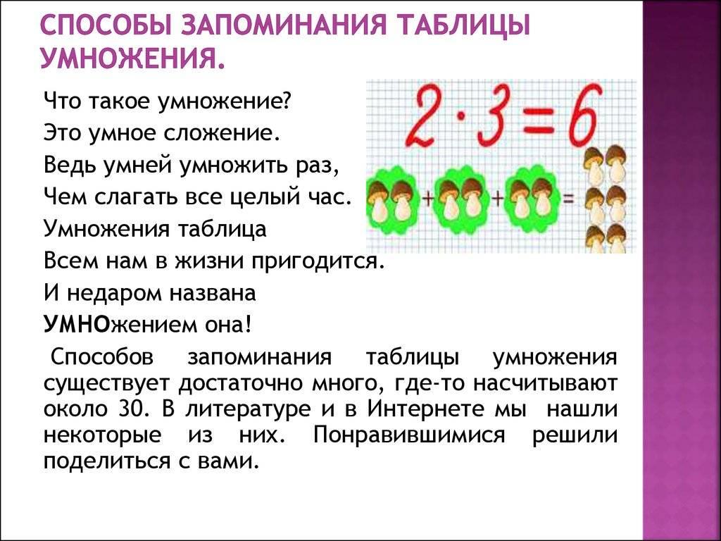 8 способов как легко выучить таблицу умножения ребёнку