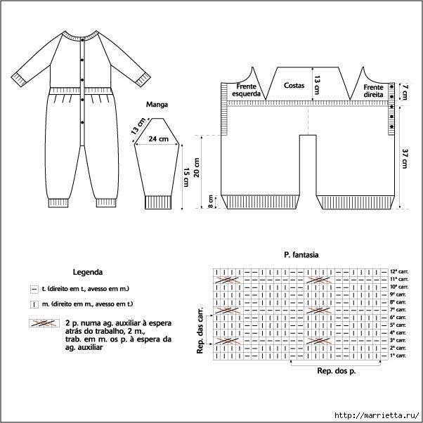 Комбинезон спицами. 22 схемы вязания комбинезонов на спицах