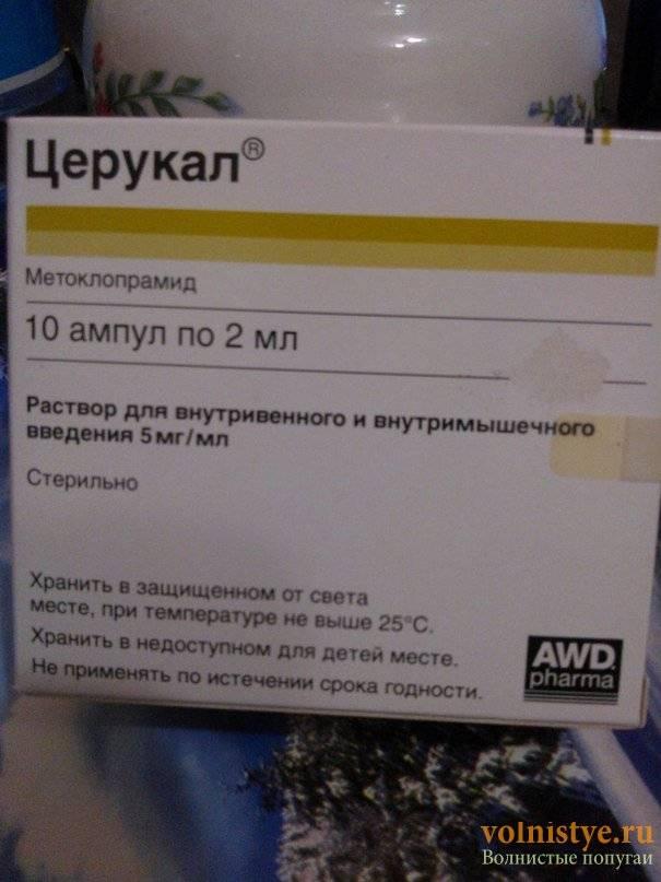 Церукал раствор для внутривенного и внутримышечного введения 5 мг/мл ампулы 2 мл 10 шт.