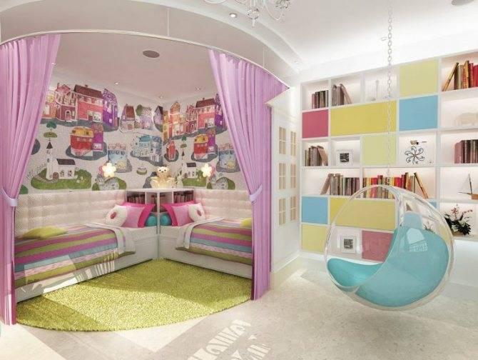 Детская комната для девочки: дизайн интерьера и варианты планировки с фото ремонта