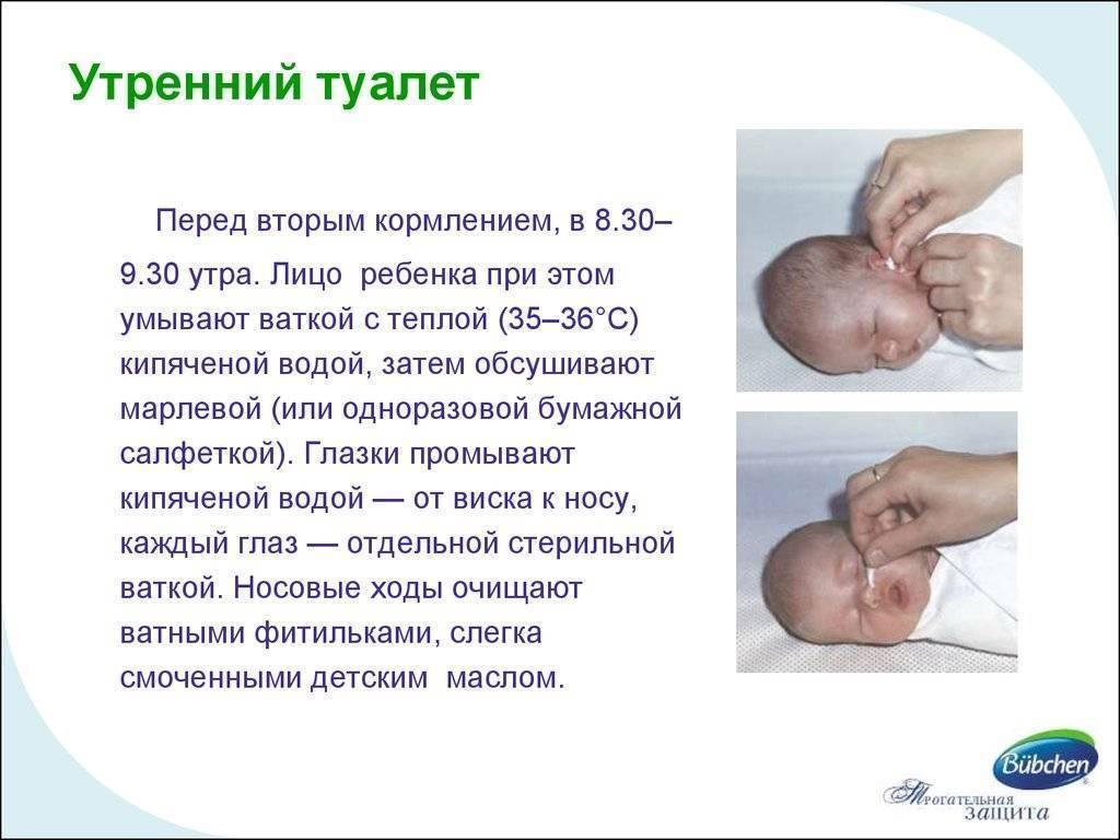 Утренний туалет новорожденного: алгоритм и техника проведения, манипуляции для грудного ребенка