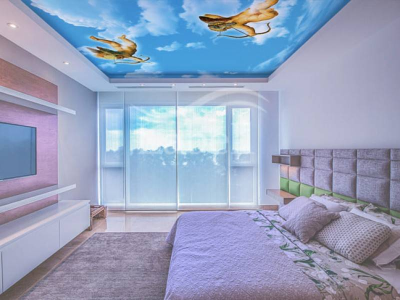 Двухуровневый натяжной потолок в детской комнате (34 фото): двухуровневые подвесные конструкции из гипсокартона в интерьере
