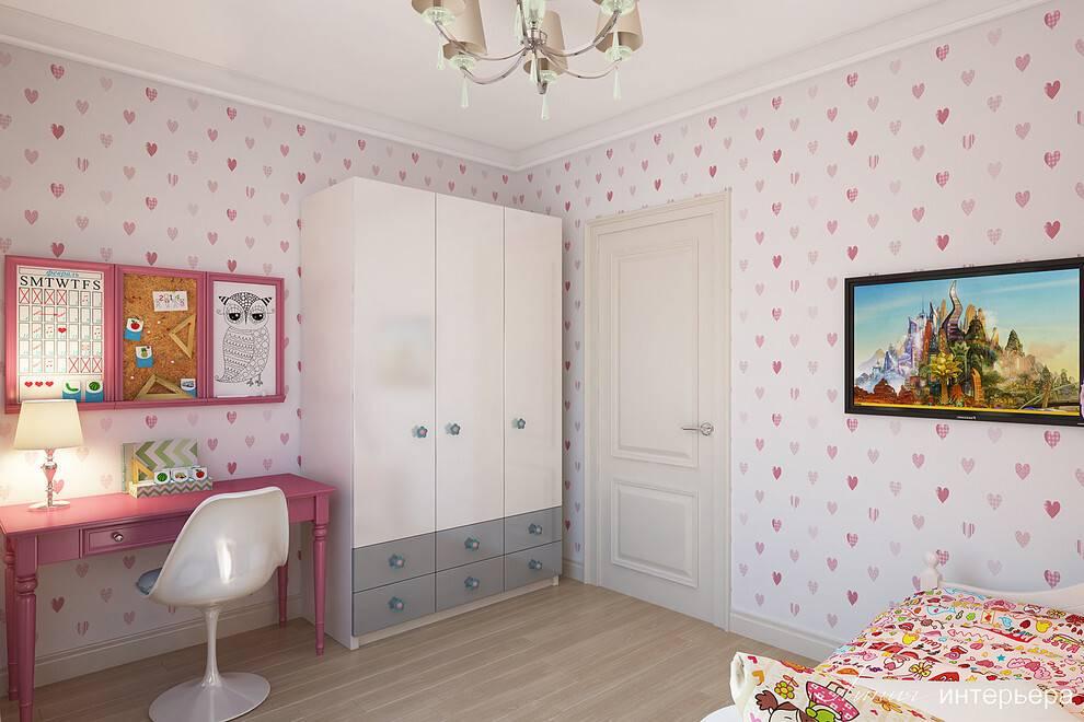Комбинированные обои для детской комнаты – советы, примеры, фото