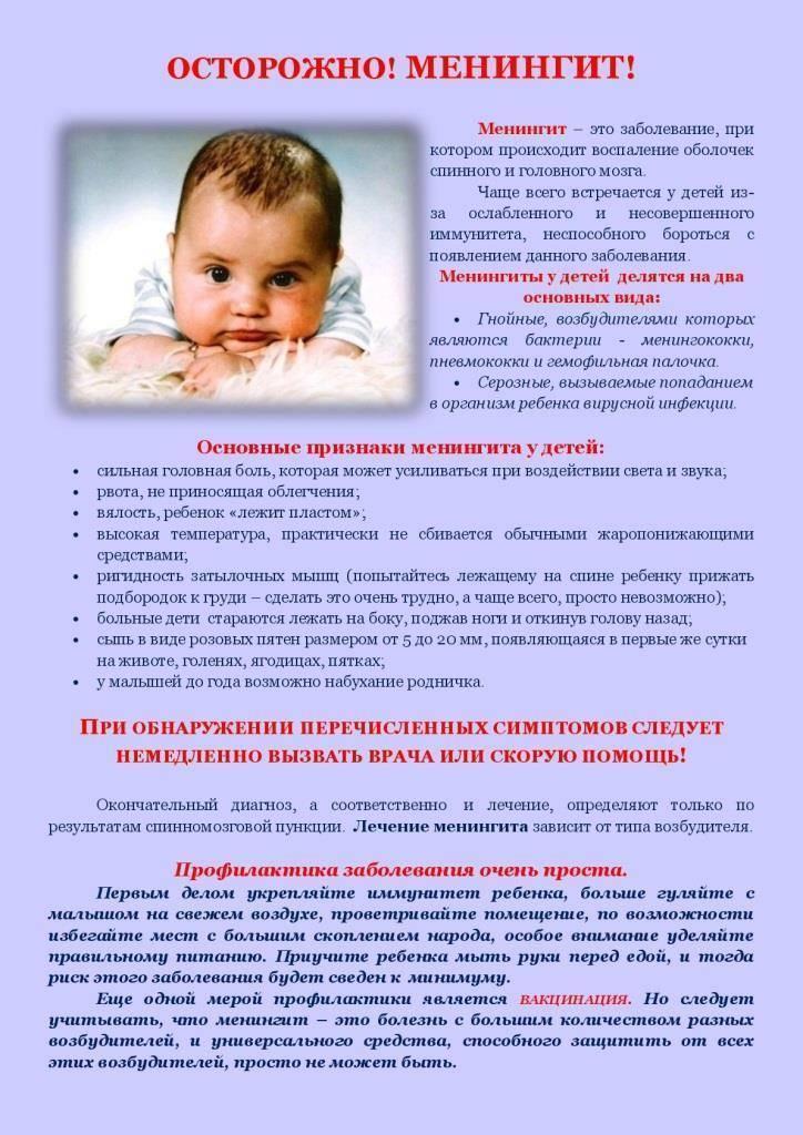 Менингит у взрослых и детей - симптомы, признаки и причины. диагностика заболевания :: ацмд