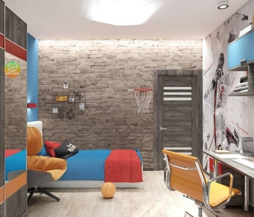 Интерьер комнаты для подростка девочки в стиле лофт