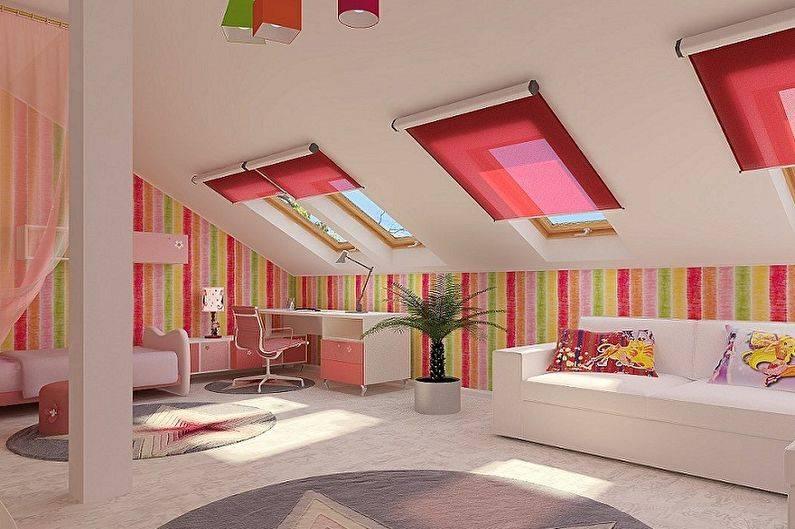 Детская на мансарде (41 фото): дизайн детской комнаты на мансардном этаже для девочки и мальчика, варианты оформления для подростка