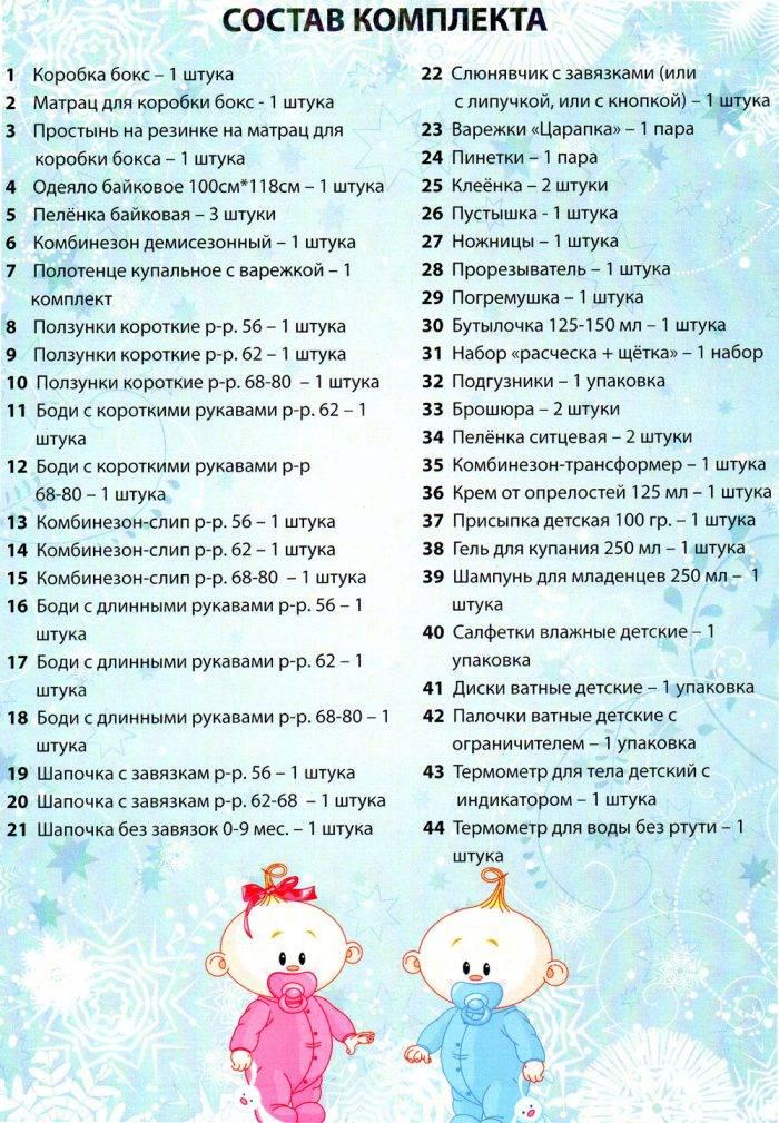 Список, что нужно купить для новорожденного ребенка в роддом и домой