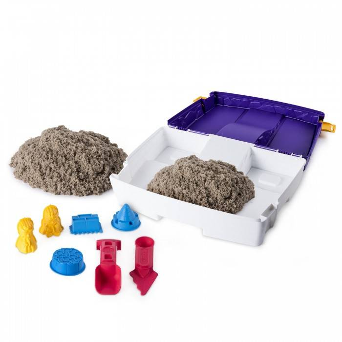 Кинетический песок для детей: что это такое, чем отличается от космического, что с ним можно делать?