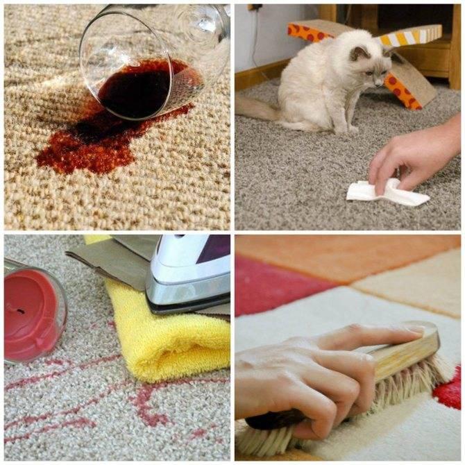 Выводим пятна и запах мочи (человека и домашних животных) на ковре
