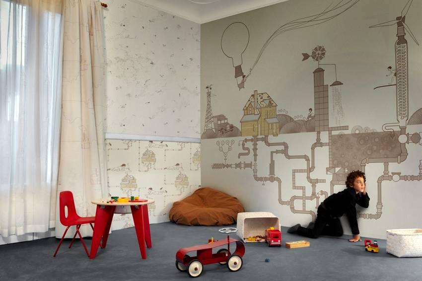 Фотообои в детскую комнату: рисунки для девочек, мальчиков, примеры в различных стилях и цветах