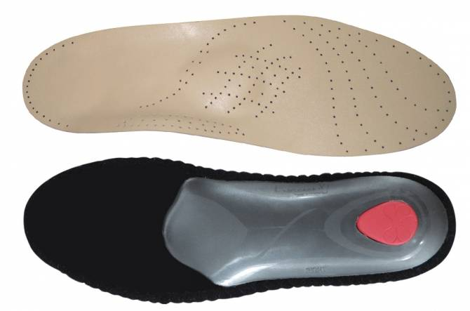Кожаные стельки-супинаторы для лечения плоскостопии 3-4 степени с усиленным эффектом