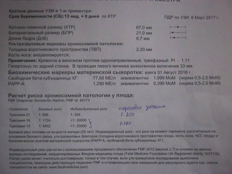 Узи-диагностика синдрома дауна и других хромосомных аномалий