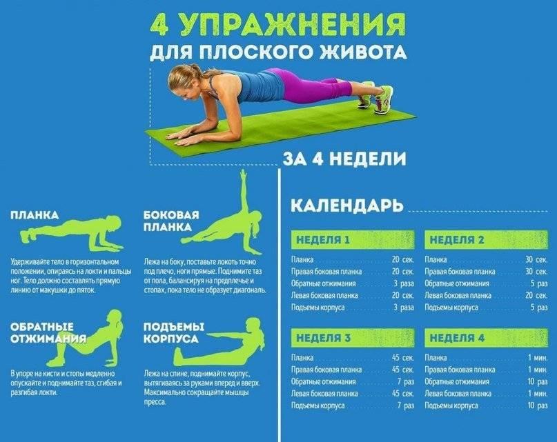 Как добиться плоского живота в домашних условиях: самые эффективные упражнения, диета