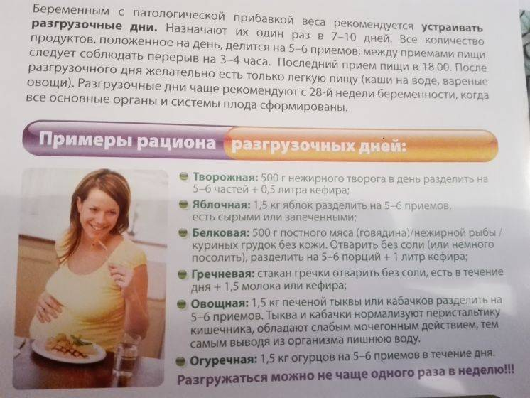 Разгрузочные дни при беременности. меню разгрузочных дней при беременности.