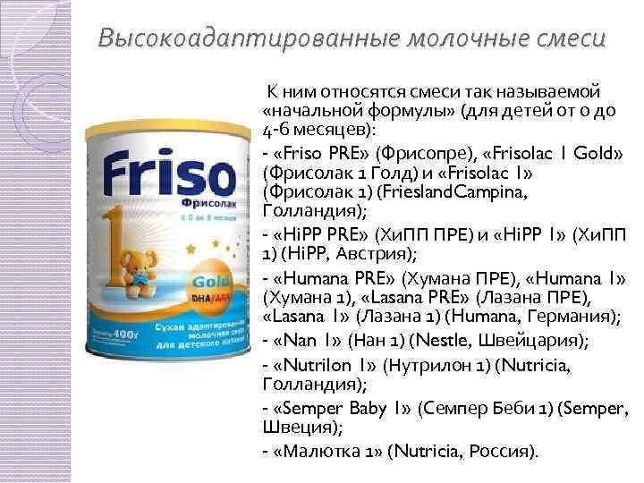 Адаптированная молочная смесь для новорожденных: список лучших