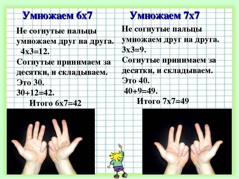 Как быстро научить ребёнка таблице умножения