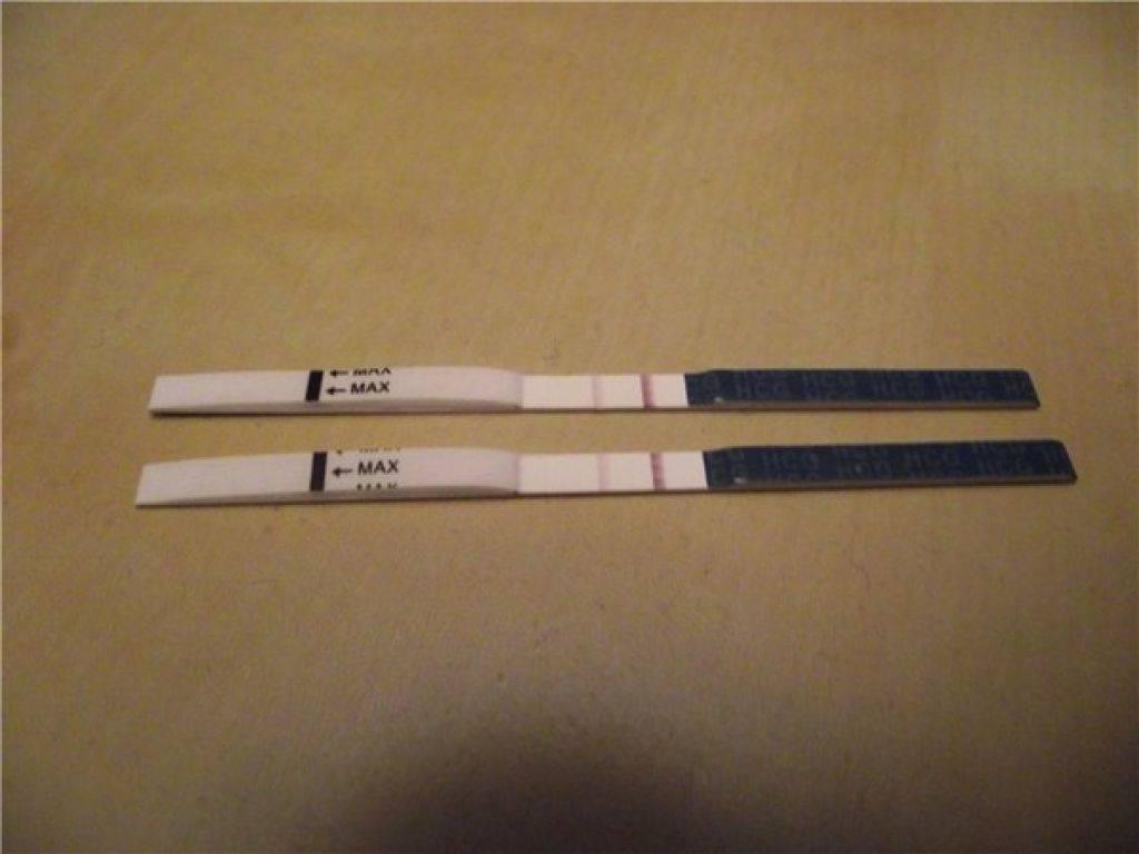 Бледная вторая полоска на тесте на беременность