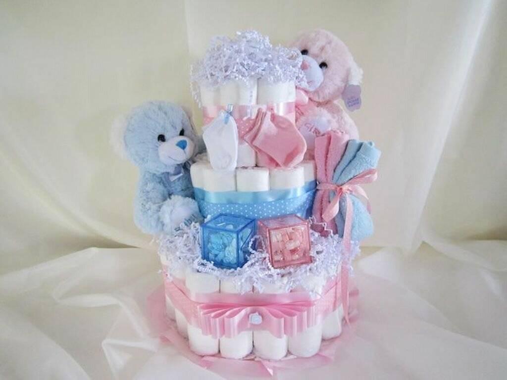 Оригинальный подарок — торт из памперсов своими руками. пошаговая инструкция приготовления торта из памперсов (фото)