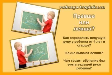 Правша или левша – как определить ведущую руку ребенка?
