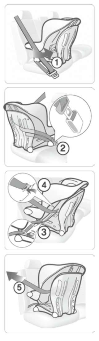 Как крепить автолюльку в машине: установка детского автокресла