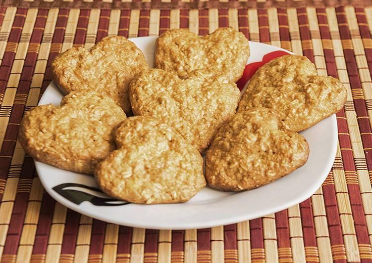 Овсяное печенье с творогом, яблоком и бананом. | шедевры кулинарии